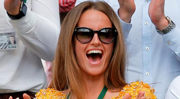 Andy Murray's wife Kim (pictured) and the Duchess of Cambridge were both dressed to impress at the men's singles final at Wimbledon