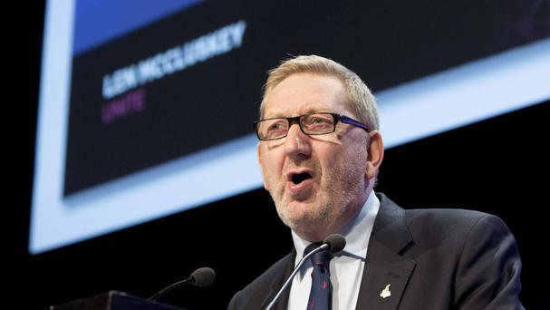 General secretary of Unite Len McCluskey