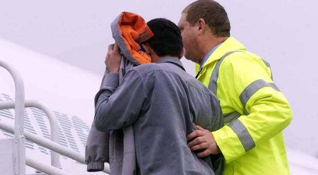 Criminals and failed asylum-seekers are usually deported using commercial flights but 18 aircraft have been chartered so far this year, the Home Office says