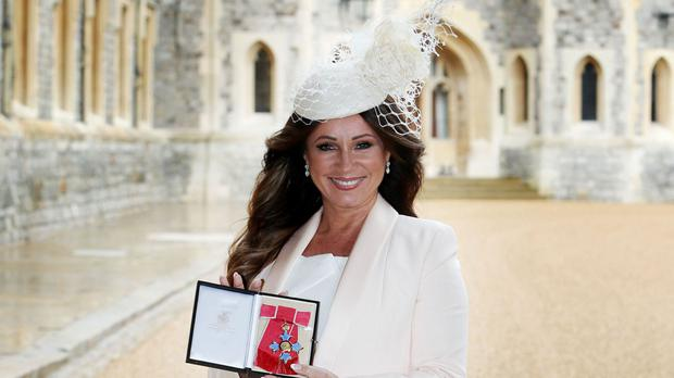 Jacqueline Gold, 55, the chief executive of Ann Summers, after receiving her Commander of the Order of the British Empire medal at Windsor Castle