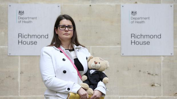 Melissa Mead, whose 12-month-old son William Mead died after medics failed to spot he had sepsis