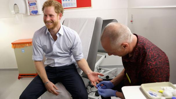 The Prince had an HIV test at the Burrell Street centre in London