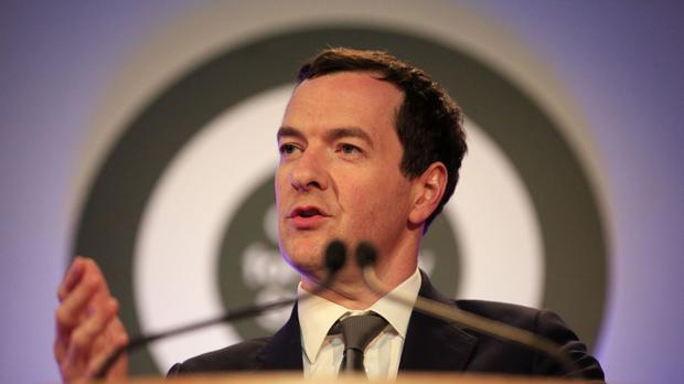 George Osborne delivers the 2016 Margaret Thatcher Lecture at the Guildhall in London during an event organised by the Centre for Policy Studies