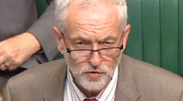 Labour leader Jeremy Corbyn speaks in the House of Commons