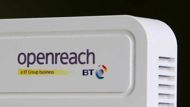 A BT Openreach internet router,