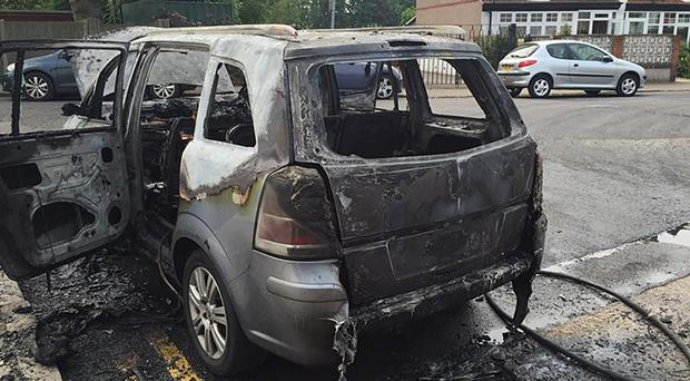 A Vauxhall Zafira which burst into flames on the same day that the owner received a letter telling him his car would be recalled