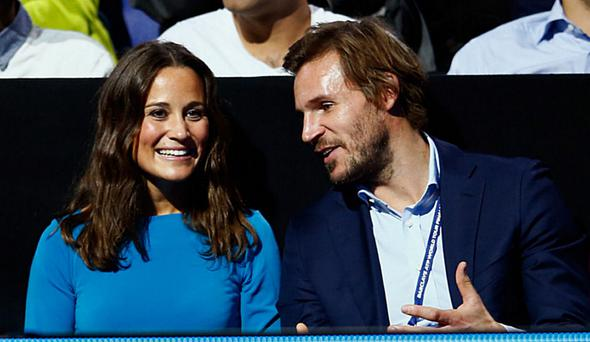 Pippa Middleton with her fiance, James Matthews