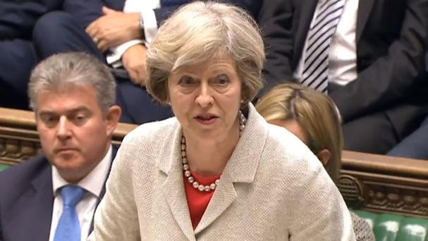 Theresa May is due to take her first session of Prime Minister's Questions in the House of Commons