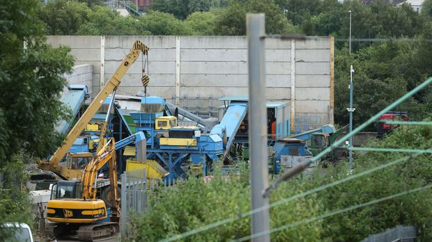Five men died after a wall collapsed at Hawkeswood Metal in the Nechells area of Birmingham