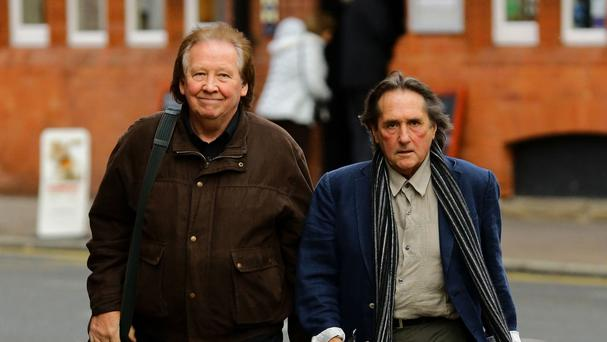 Richard Westwood, left, and Leonard Hawkes are accused of indecent assault