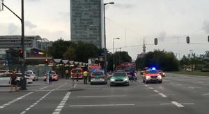 Police respond to a shooting at a shopping centre in Munich (AP)