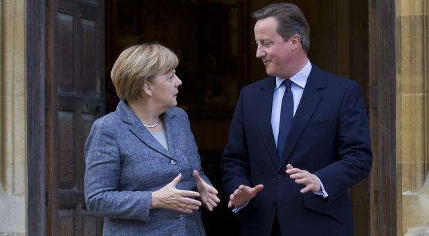 David Cameron appealed to German Chancellor Angela Merkel over the issue of migration