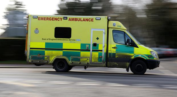 Ambulances are at the scene of the incident at Sea Palling