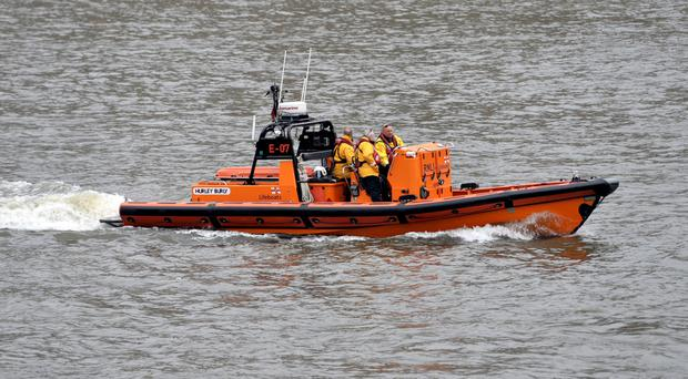 An RNLI lifeboat has joined a search looking for a missing person in the sea off Camber Sands