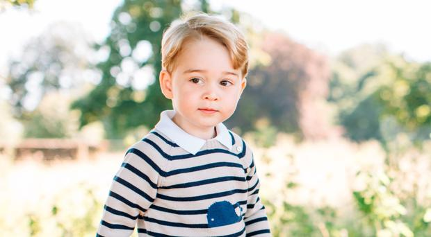 Prince George who celebrated his third birthday on Friday