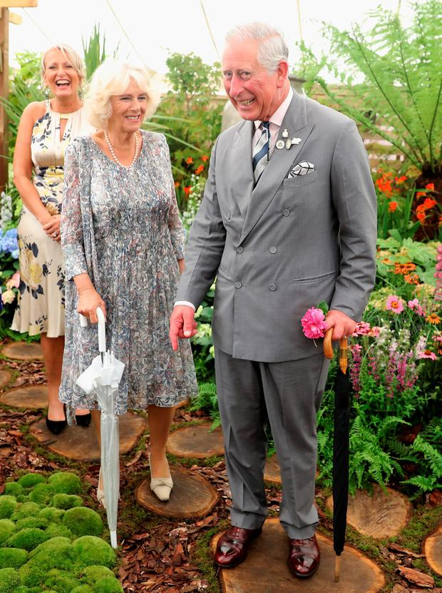 Charles and Camilla at Sandringham Flower Show yesterday