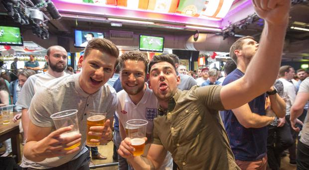 England fans in the Walkabout Pub in central London, during Euro 2016