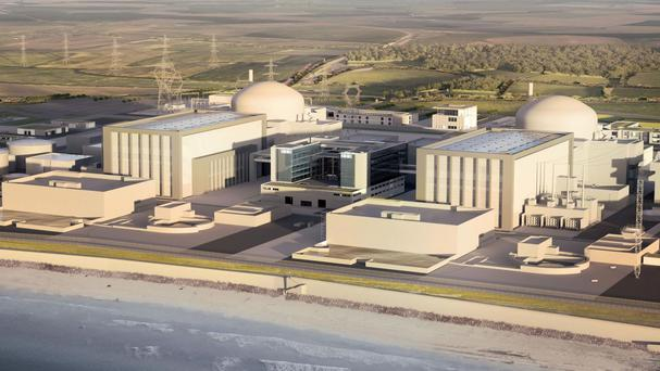An artist's impression issued by EDF of plans for the new Hinkley Point C nuclear power station