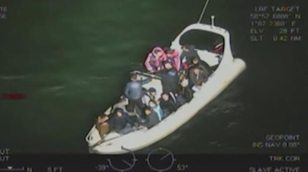 The broken down boat used by two men who tried to smuggle 18 Albanian immigrants into the UK