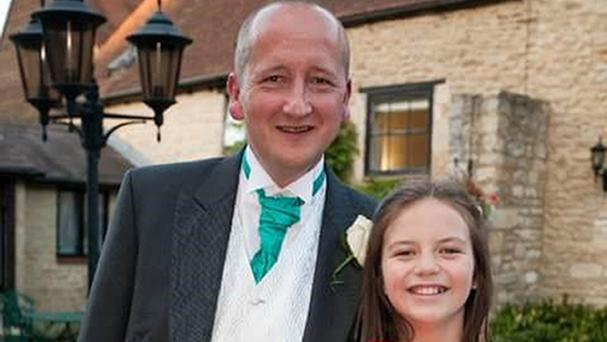 Robin Chard with his daughter Erin Parker