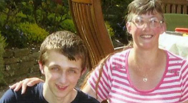 Lynne Sandford with her son Michael