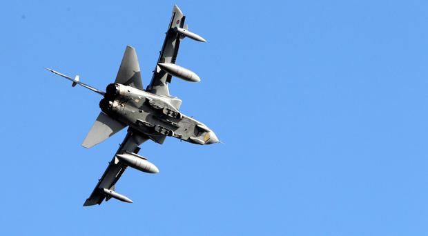 The RAF said two Tornados were used in the operation
