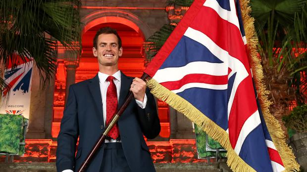 Andy Murray will be Team GB's flag bearer at the Rio Olympics