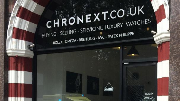 A raid was foiled at the Chronext shop in Piccadilly (Muthusamy Velu/PA)