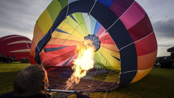 The balloons were inflated at dawn for a preview of things to come during the Bristol International Balloon Fiesta
