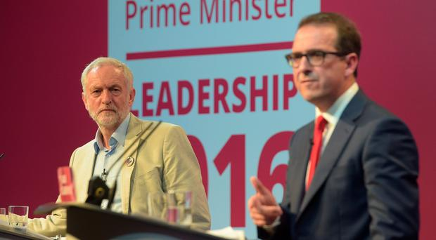 Labour leadership rivals Jeremy Corbyn and Owen Smith. Photo: Ben Birchall/PA Wire