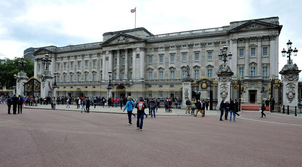 A 22-year-old has been arrested after climbing over a security fence at the palace