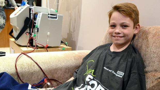 Matthew Pietrzyk, 11, has received a kidney from a living donor (NHS/PA)