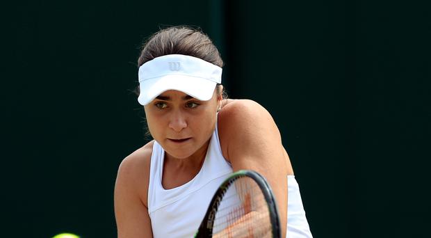 Gabriella Taylor in action on day 10 of this year's Wimbledon Championships
