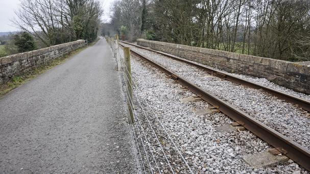 The vehicle was on the railway line