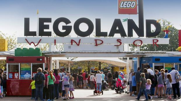 The children were visiting Legoland in Windsor.