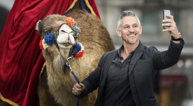 Gary Lineker was at the launch of the Spell & Go campaign by Walkers in central London earlier this year