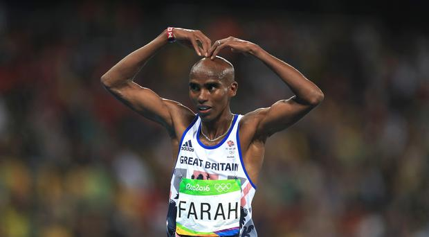 Mo Farah hopes to be celebrating another gold medal