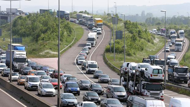 Experts warned of the worst bank holiday congestion on roads in a decade