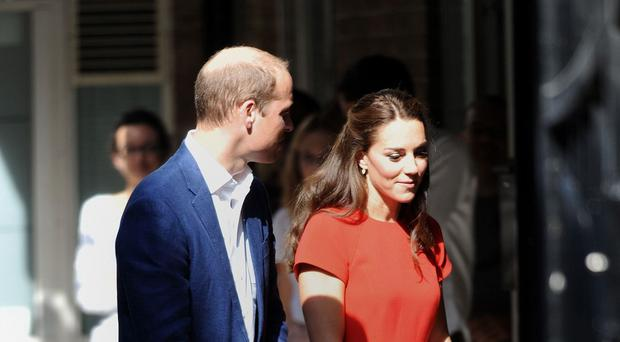 The Duke and Duchess of Cambridge arrive for a visit to the Young Minds mental health charity helpline in London
