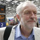 Labour leader Jeremy Corbyn arrives at Glasgow Central Station