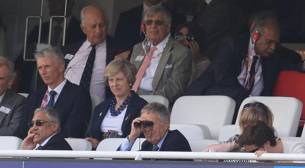 The Prime Minister was at Lord's to see England take on Pakistan in a one-day international