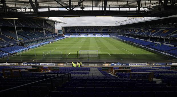 The fan collapsed at Goodison Park
