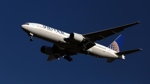 A United Airlines plane, as two pilots were arrested on suspicion of being under the influence of alcohol