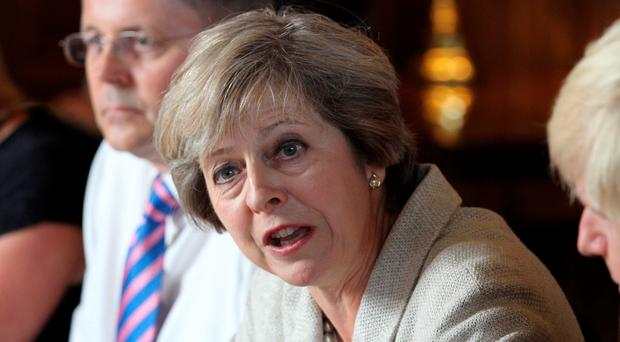 Meeting: Theresa May yesterdaya brighter, more secure future for