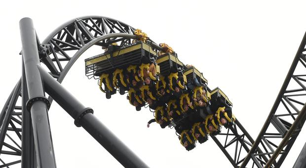 The Smiler ride at Alton Towers in Staffordshire