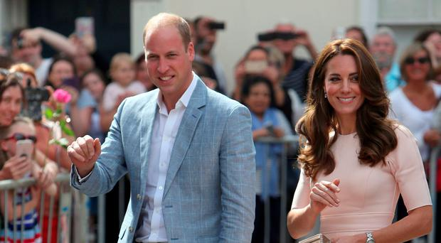 The Duke and Duchess of Cambridge visit Truro Cathedral at the start of a day-long tour of Cornwall