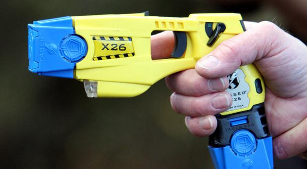 Police use of Tasers in England and Wales went up slightly last year