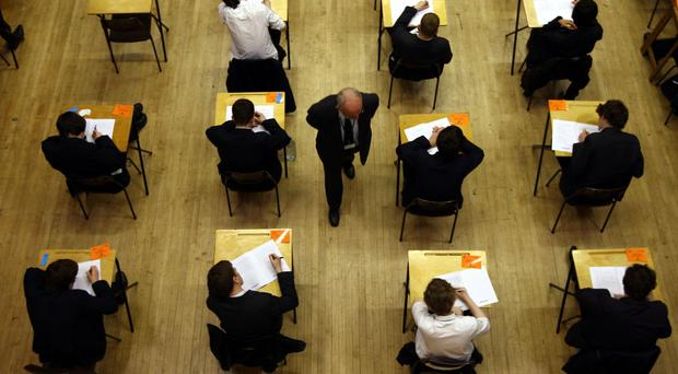 Exam time for pupils