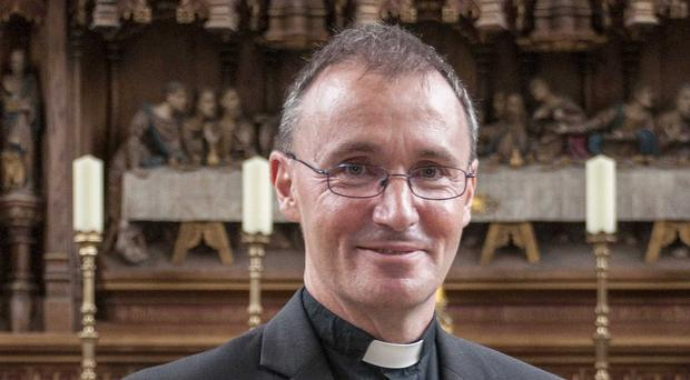 The Bishop of Grantham, Nicholas Chamberlain, who has become the first in the Church of England to publicly reveal that he is gay and in a relationship (Diocese of Lincoln/PA)