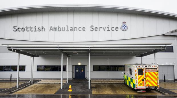 The Scottish Ambulance Service confirmed that three people had been taken to hospital